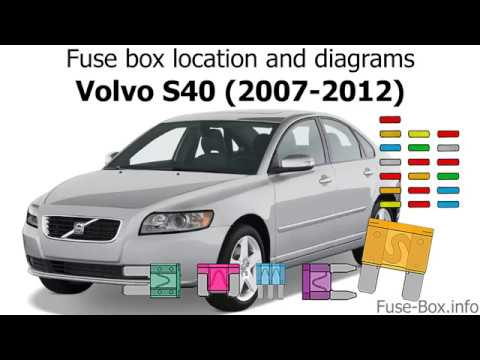 Fuse box location and diagrams Volvo S40 (2007-2012) - YouTube
