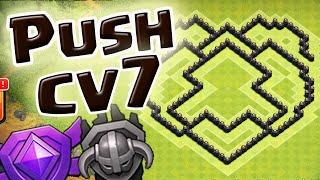 Layout de Push Cv7 base Troféus - Clash of Clans