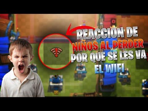 ¡¡ REACCIÓNES DE NIÑOS AL PERDER PARTIDAS POR EL INTERNET EN CLASH ROYALE !!