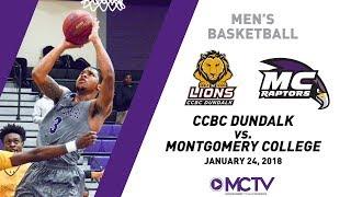 MC Raptors Men's Basketball vs. CCBC Dundalk, 1/24/2018