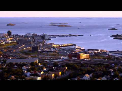 Bodø city centre aerial view (Timelapse)