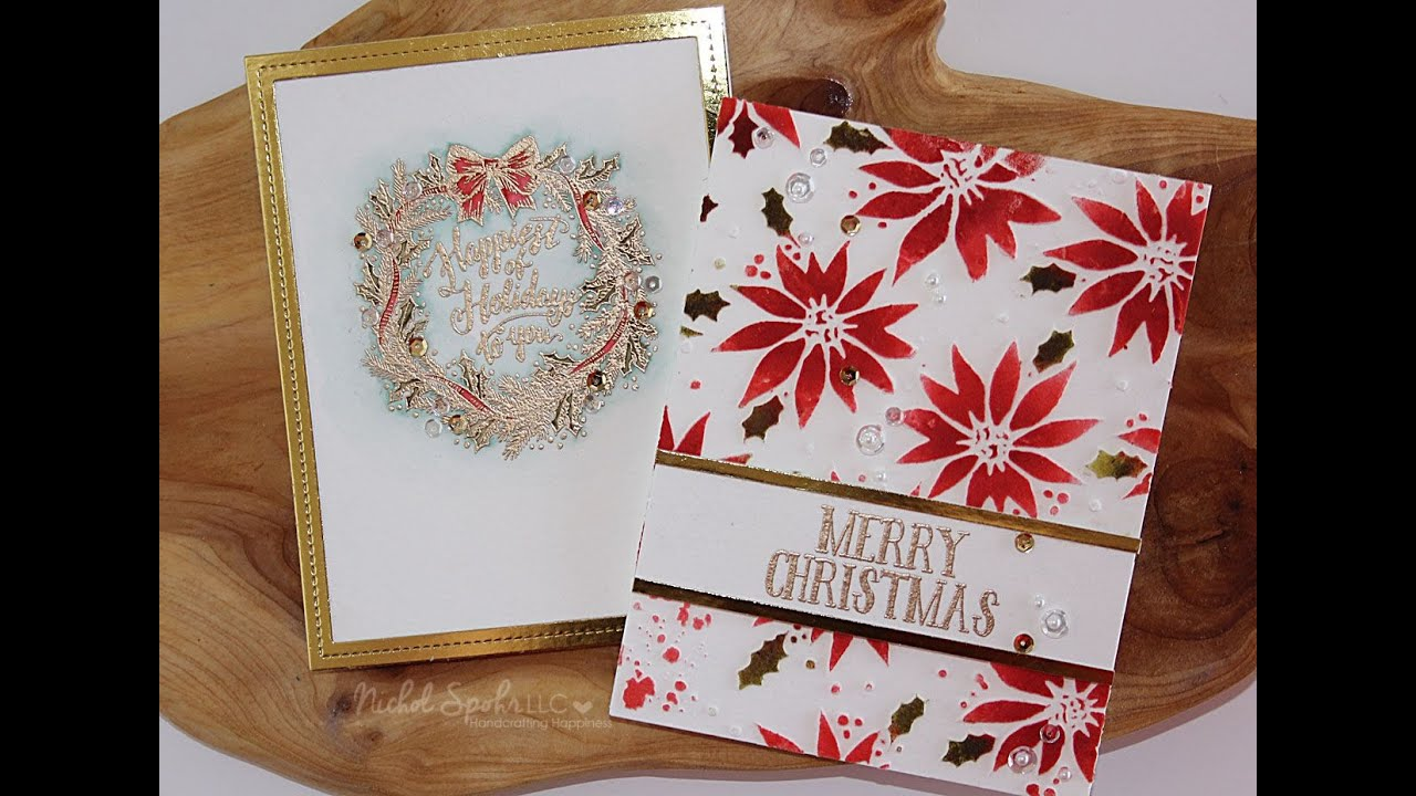 Stamptember Simon Says Stamp Tim Holtz Holiday Cards Youtube