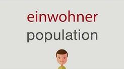 Wie heißt einwohner auf englisch