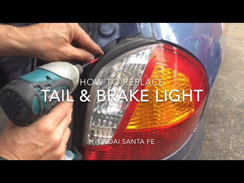 Replacing Tail Light Brake On Hyundai Santa Fe