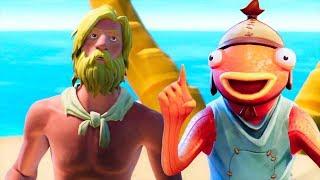 *NEW* Stranded Jonesy & Fishstick Voice REVEAL..! (Short Animations) Fortnite Battle Royale