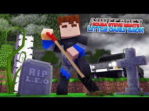 SCUBA STEVE WANTS LITTLE CARLY BACK FROM LEO !!!! Minecraft Sharky Adventures