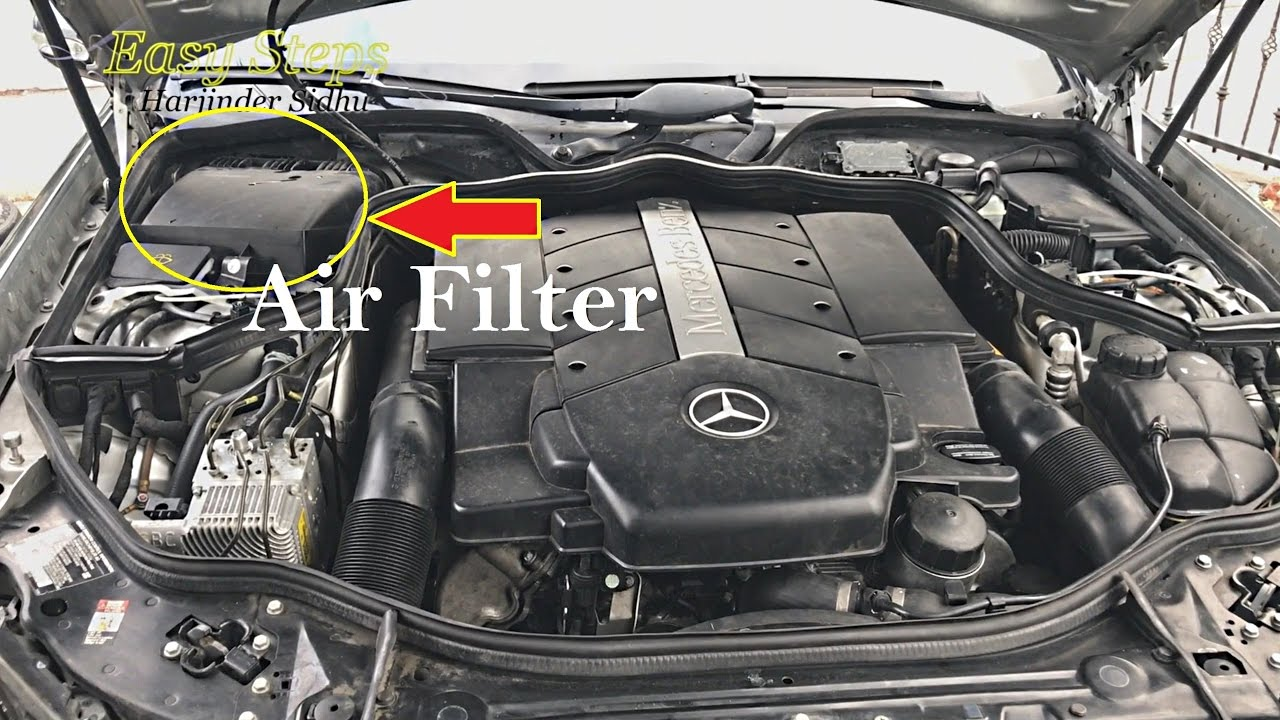 How To Change Cabin Air Filter On Mercedes E500 W211 Replace Filter Youtube