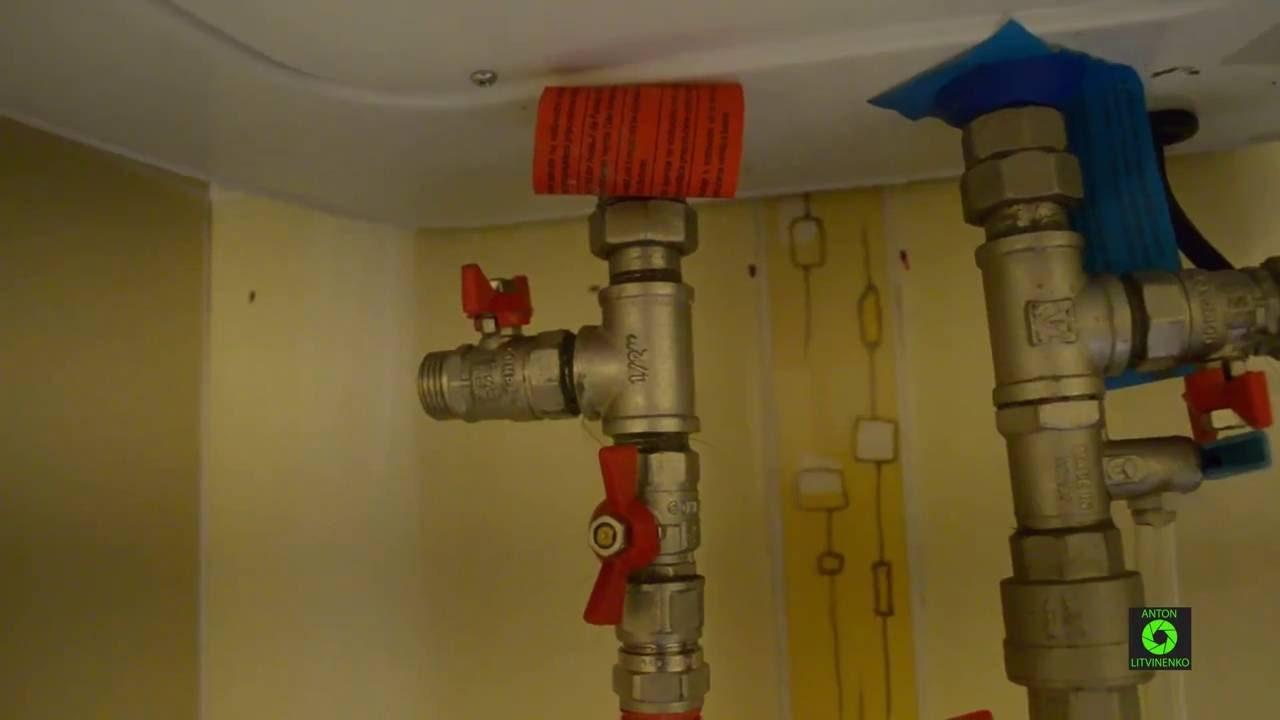 Монтаж водонагревателя 30 литров