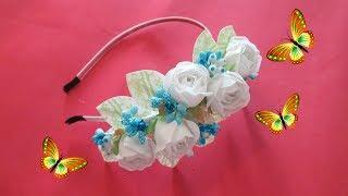 Ободок с розами МК  /  Цветы  из ткани своими руками  / Елена Шевченко