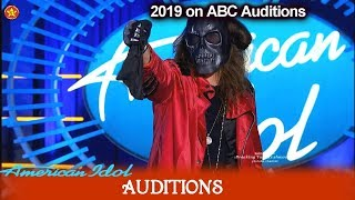 Vokillz works as Mystic Death Creature Had Judges Scared  & Hide | American Idol 2019 Auditions