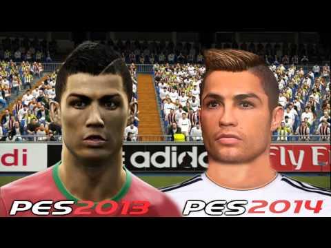 PES 2013 Vs PES 2014 Faces Comparison [HD] Part 1