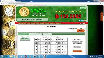 YABTCL Bitcoin Lottery 2000 btc Free Bitcoin Lottery Faucet