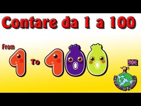 IMPARIAMO L'INGLESE: CONTARE DA 1 a 100 - Video educativi e divertenti