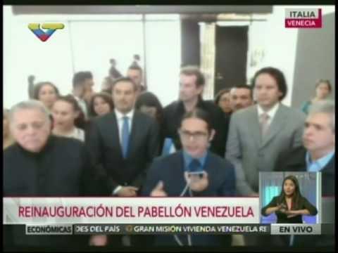 Ministro Freddy Ñáñez reinaugura Pabellón venezolano en Bienal de Venecia 2016