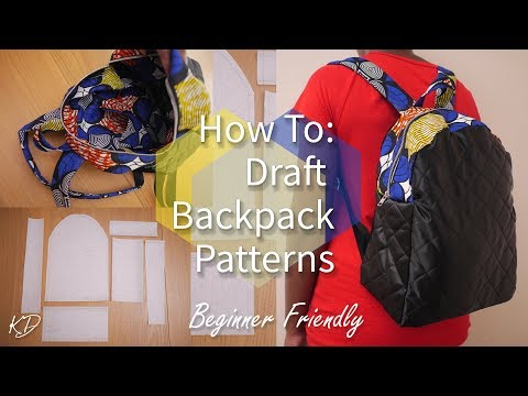 HOW TO: DRAFT BACKPACK PATTERNS + 1k GIVEAWAY | REQUEST WEDNESDAY #3
