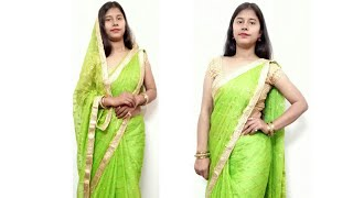 How to drape Bandhani Saree in Border to Border in Style - 2020