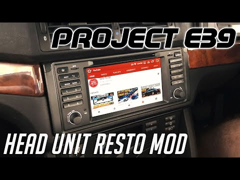 BMW E39 Navigation Install - Android Head Unit | PROJECT E39 Ep.02