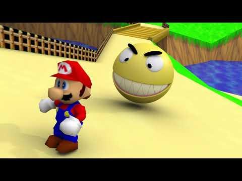 Pacman In Mario 64 World