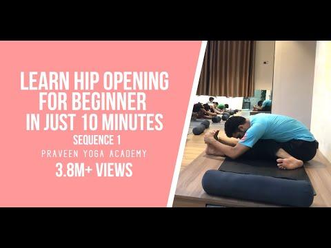 Yoga For Beginner | Hip Opening | Sequence 1| PraveenYoga | master praveen