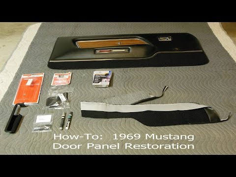 1969 1970 Mustang Door Panel Restoration How To - Ford, Mach 1, Shelby, Boss