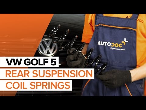 DIY How to replace Rear Springs on VW GOLF 5 | AUTODOC