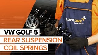 Fitting Coil springs VW GOLF V (1K1): free video