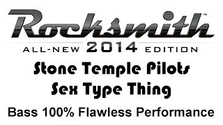 """Stone Temple Pilots """"Sex Type Thing"""" Rocksmith 2014 bass cover finger"""