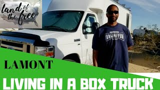 LIVING IN A BOX TRUCK BUT THINKS OUTSIDE THE BOX.