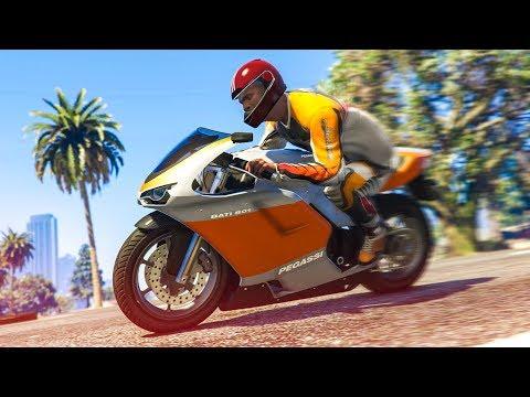 AWESOME MOTORBIKE STUNT! - (GTA 5 Stunts & Fails)