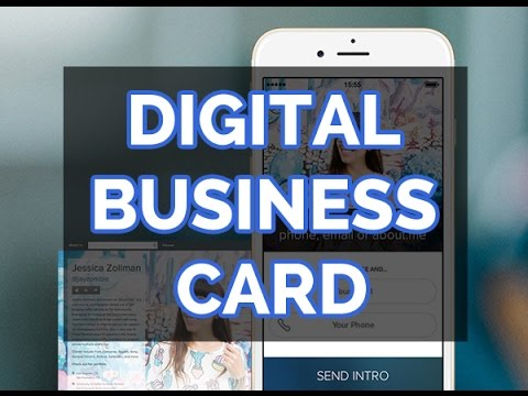 The New Digital Business Card For Your iPhone - YouTube