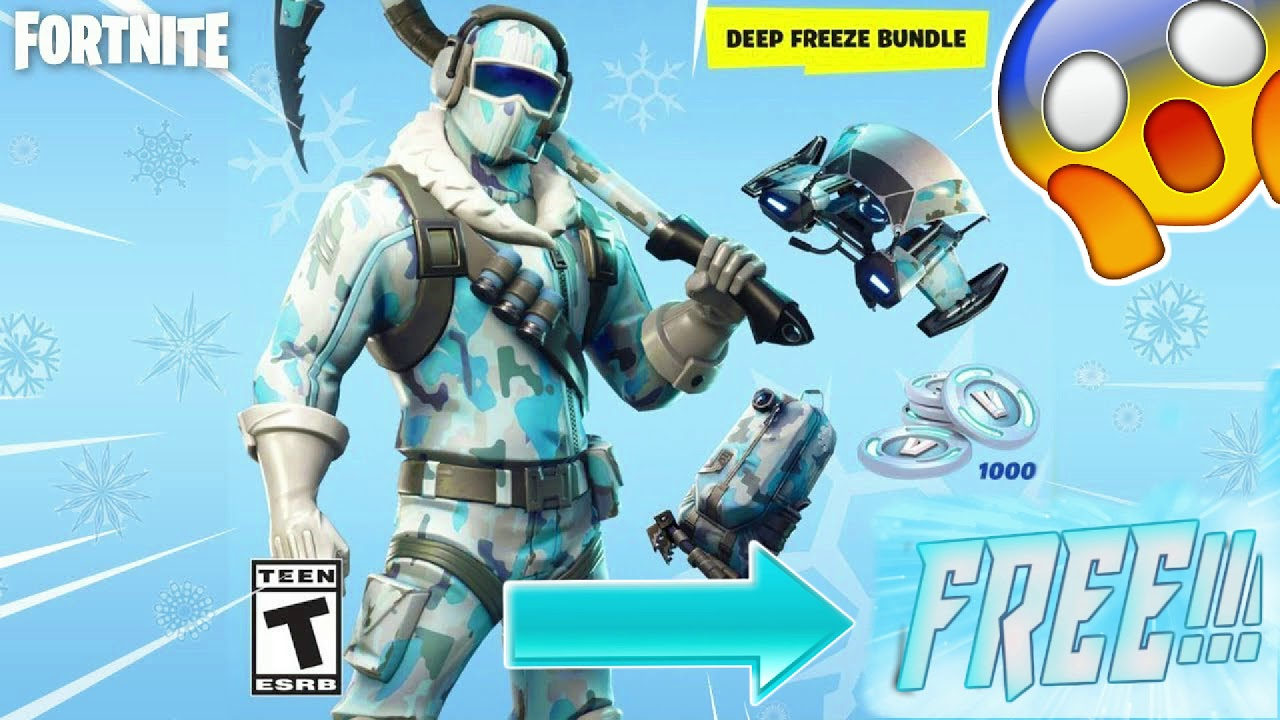 How To Get Claim The Deep Freeze Bundle Free In Fortnite Youtube
