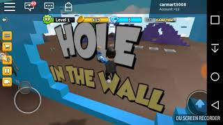 I GOT CRUSHED BY A WALL! (Roblox hole in the wall)
