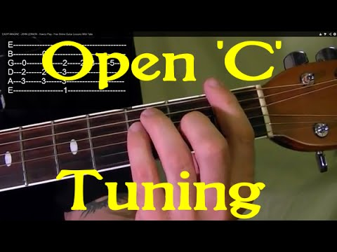 Open 'C' Tuning - Guitar Lesson✅✅🎵