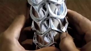 Artist create beautiful sculptures out of aluminum cans with his thumbs