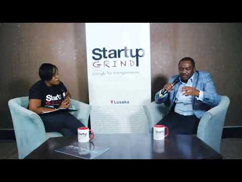David Kombe(Blackdot) at Startup Grind Lusaka