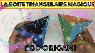 COMMENT FAIRE UNE BOITE TRIANGULAIRE MAGIQUE ? [ TUTORIEL ] thumbnail