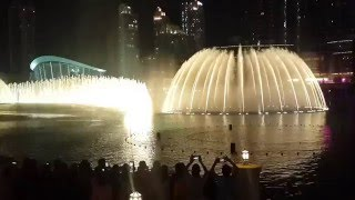 Fuente de aguas danzantes - Burj Khalifa- DUBAI 2016 ( Worlds Greatest Dancing Fountains )