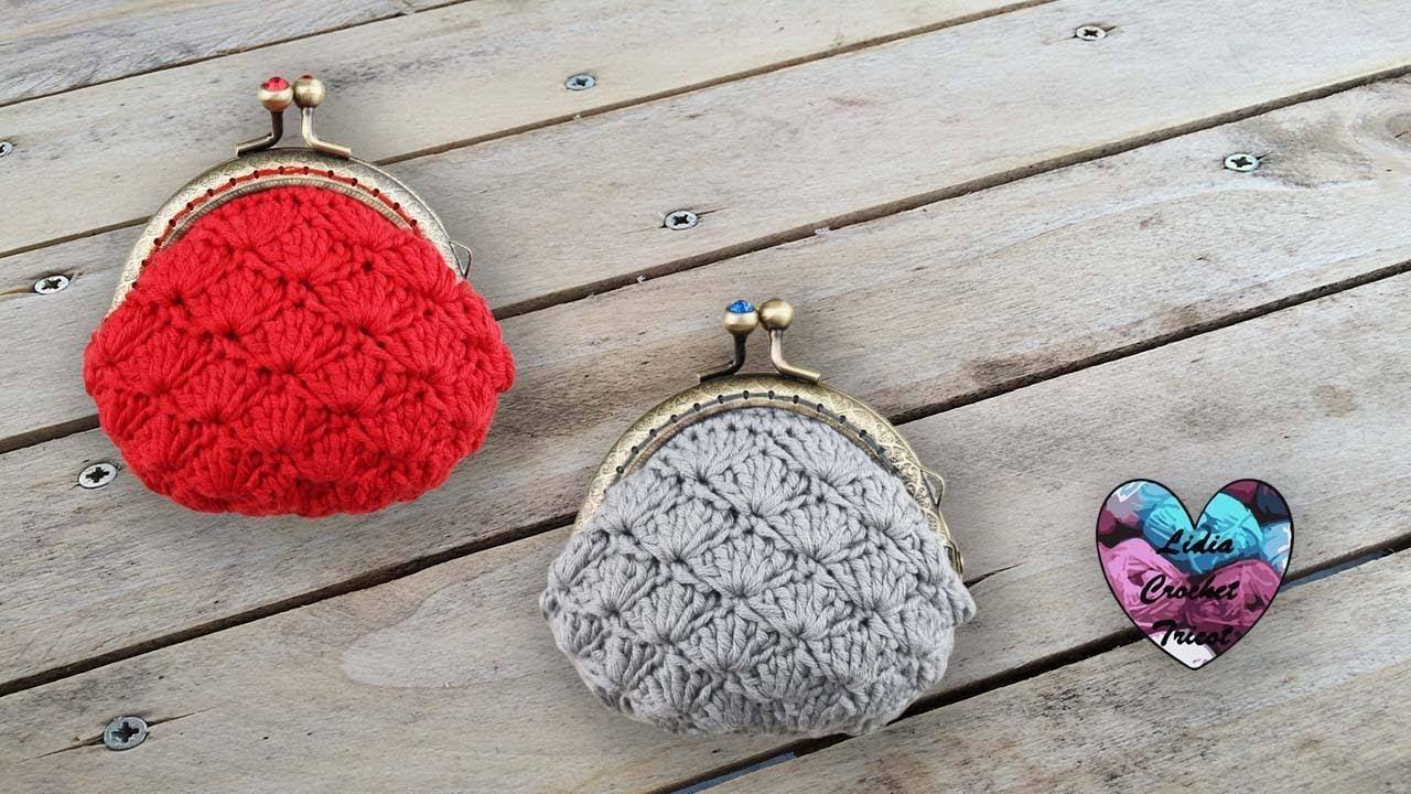 Porte Monnaie éventails Crochet By Lidia Crochet Tricot Youtube