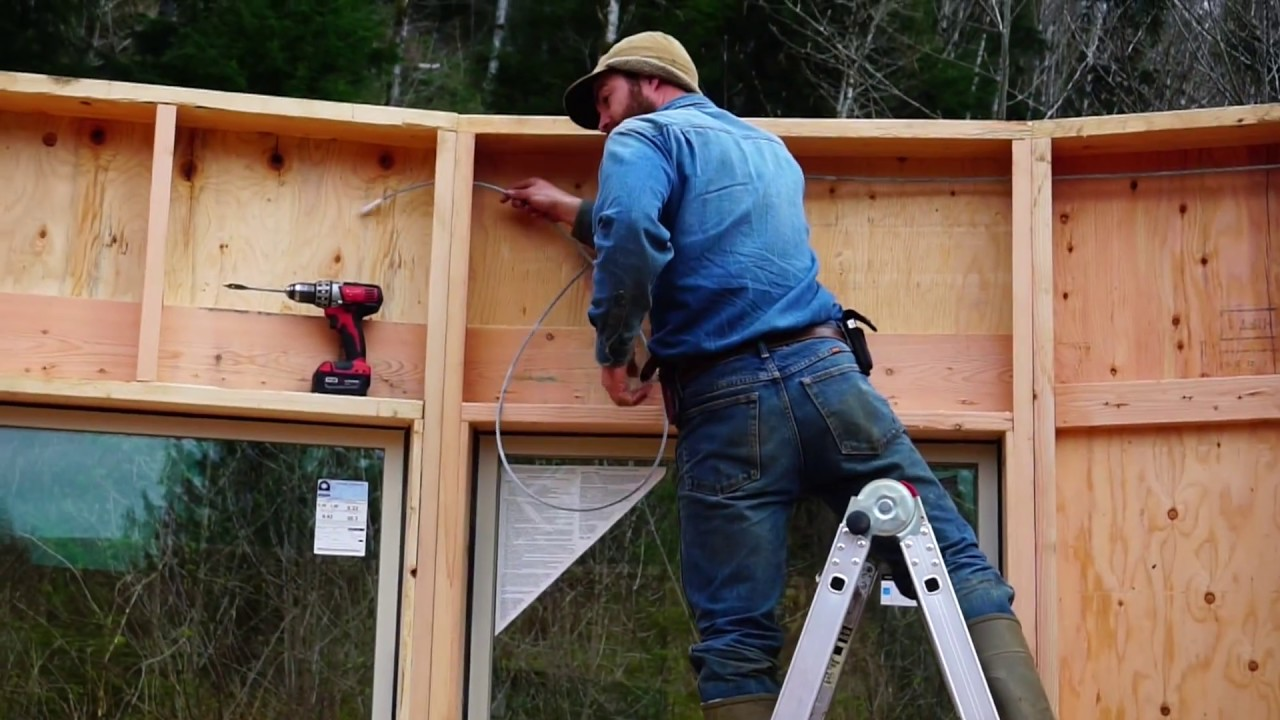 Building An Off Grid Yurt Part 7 24 Walls In Place Youtube