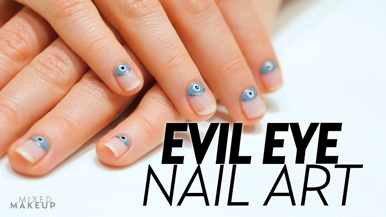 Evil Eye Nail Art with tenoverten | Beauty Bytes - YouTube
