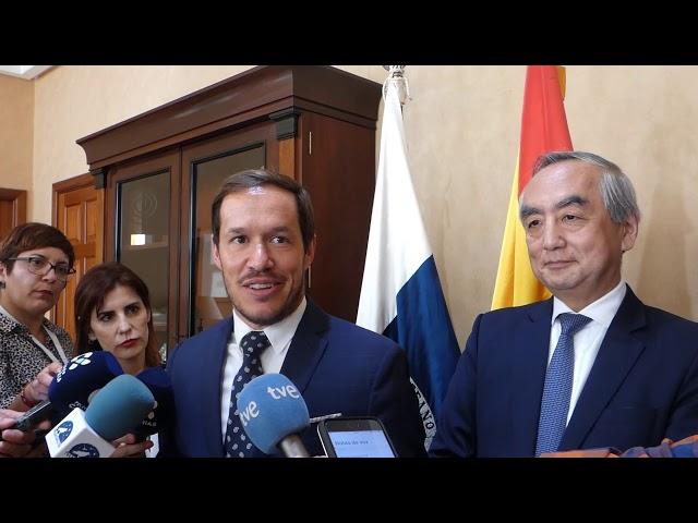 Visita Embajador de Japón Kenji Hiramatsu a la Isla de La Palma.