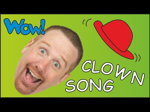 Track for Youngsters about Clowns | Humorous Steve the Clown in Child Songs | ESL Be taught English Talking