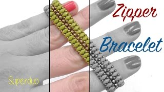 Beading Ideas - Zipper Bracelet with Superduo