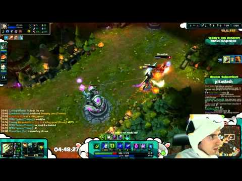 League of legends - plays with master