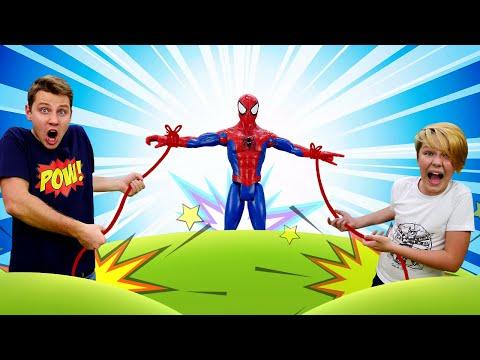 Новое видео с супергероями - Как остановить Человека Паука? – Игры для мальчиков.