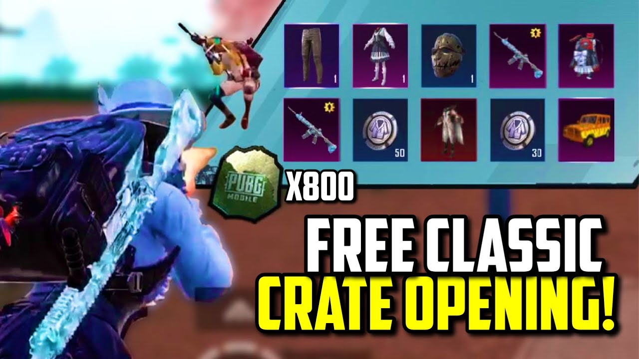 800 FREE CLASSIC CRATE COUPONS SCRAPS OPENING! | PUBG Mobile