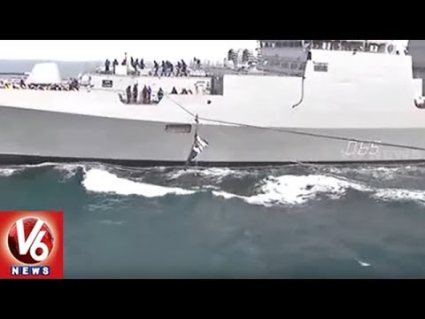 Navy Day Celebrations In Goa | Navy Officials Stunts Attracts Visitors | V6 News