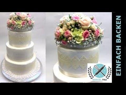 Edle Hochzeitstorte Im Landhausstil Weddingcake Vintage I Einfach