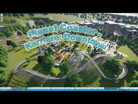 Planet Coaster - Fertige Karriere: Downtown