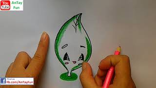 How To Draw  leaf earthday